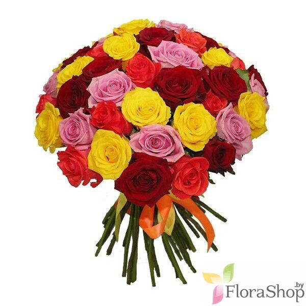 Bouquet of multicolored roses 53 I really miss ...