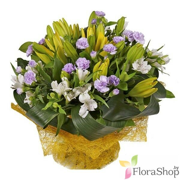 Bouquet of Lilies in the garden
